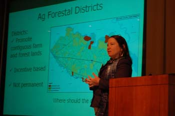 Karen Firehock (GIC) presents an overview of conservation planning tools